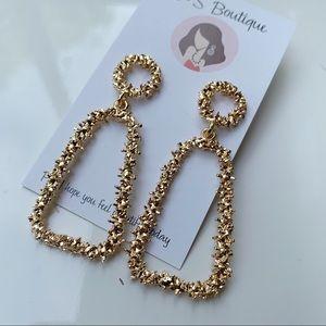 Jewelry - Long gold stud earrings